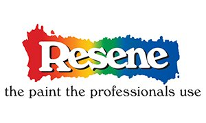 "Resene ""the paint the professionals use"" logo"