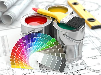 painting equipment, and a selection booklet for colours