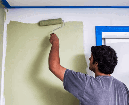 painting an interior wall of a house green