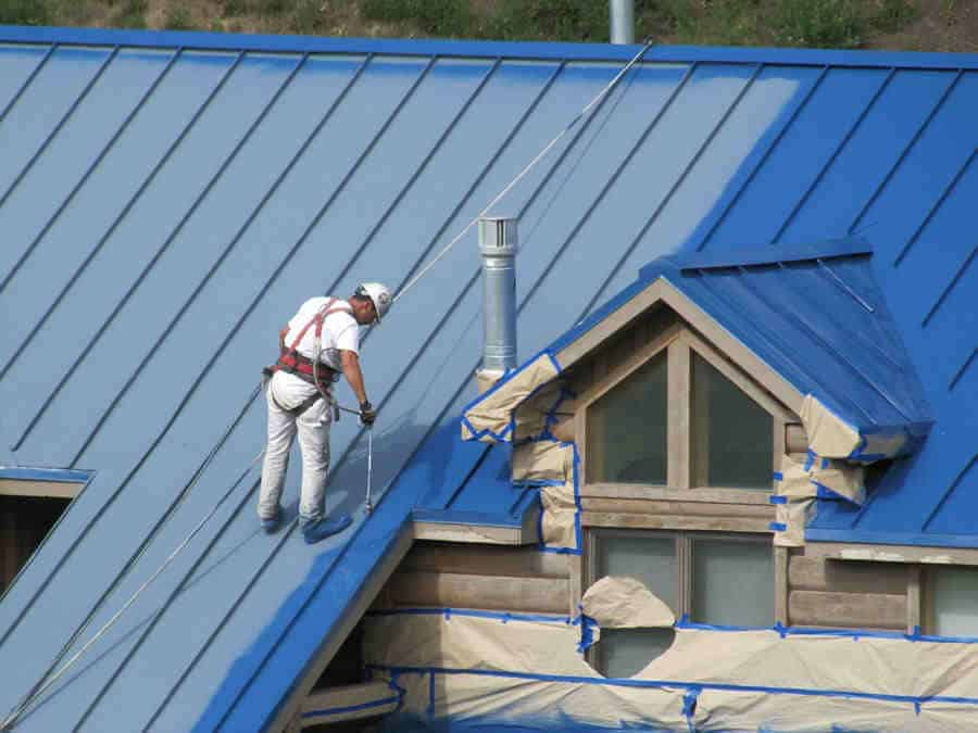painting a metal roof a more vibrant blue