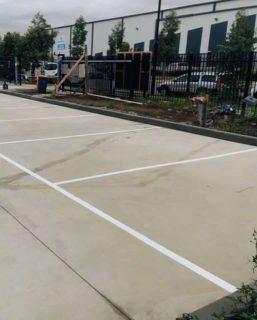 line marking factory car park