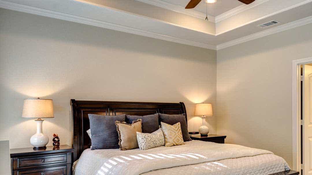 bedroom with neutral paint colours