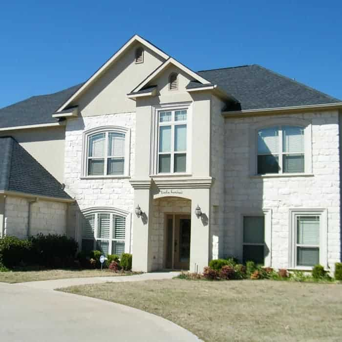 House Painters Sunbury - White brick double story home with grey roof