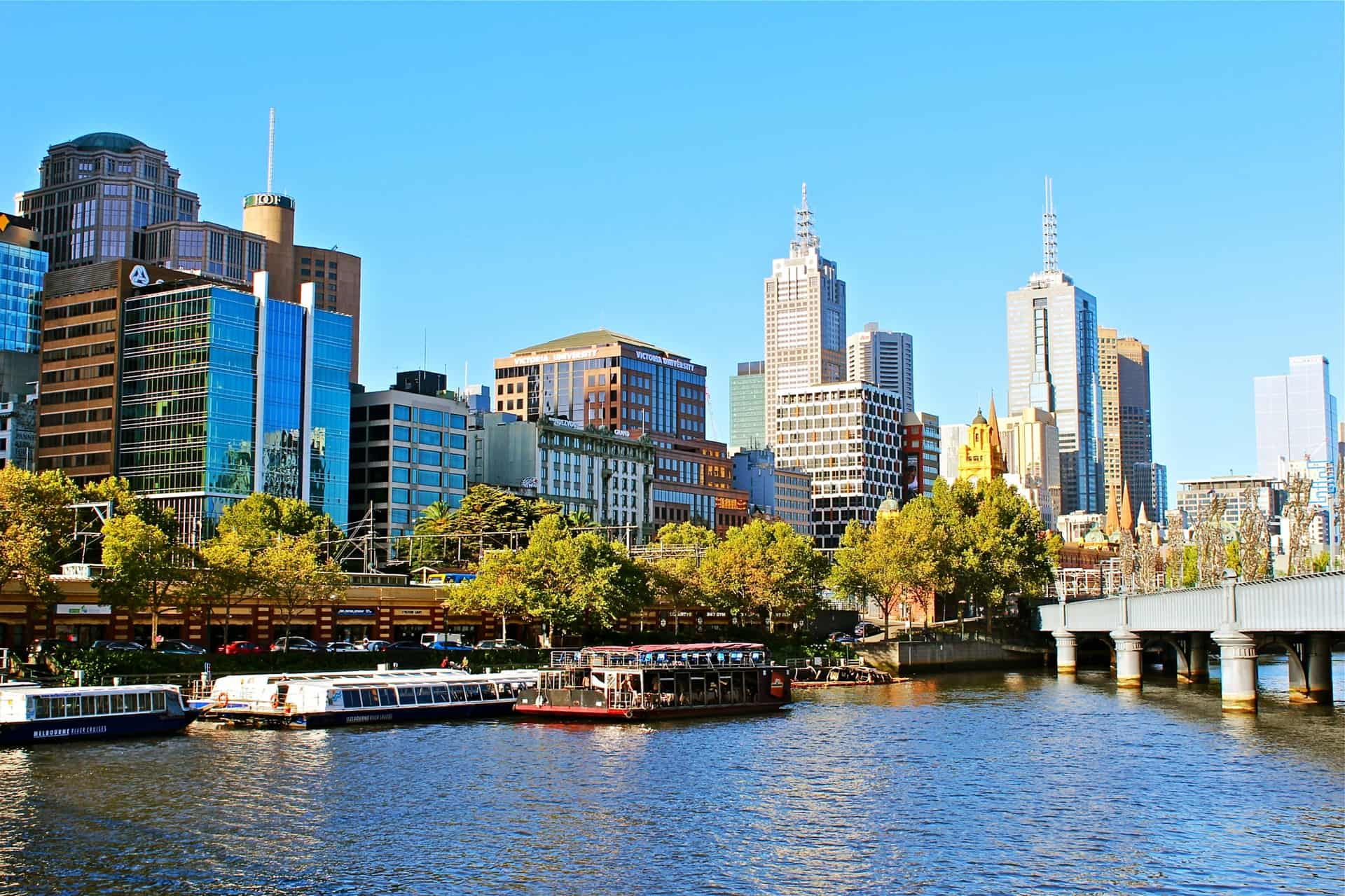 View of Melbourne cbd and yarra river