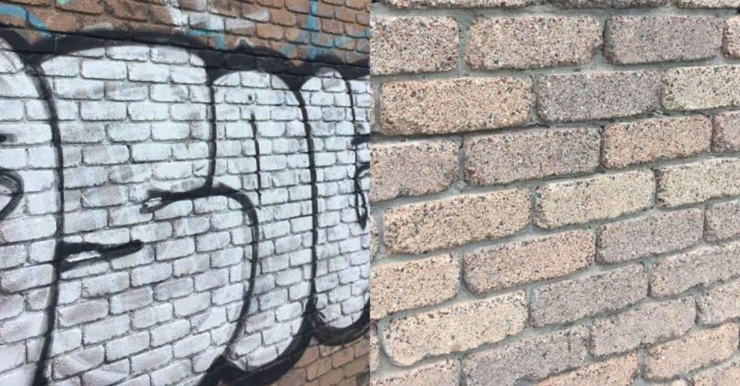 grafitti removal before and after