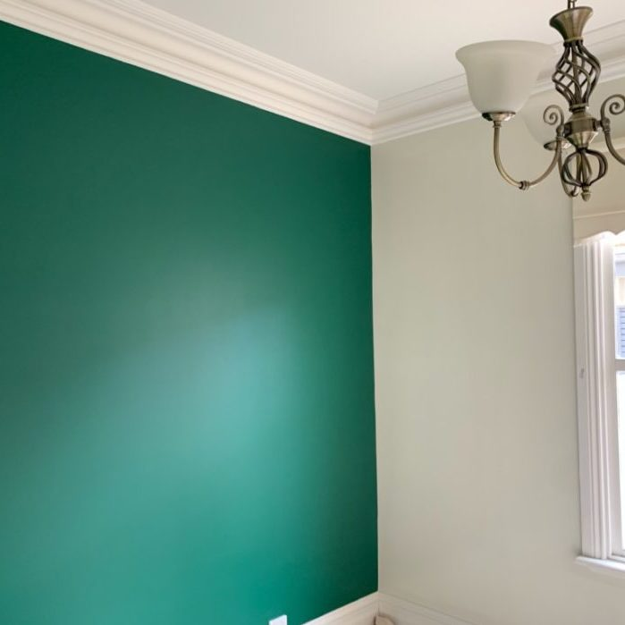 painting the walls of a house green feature wall
